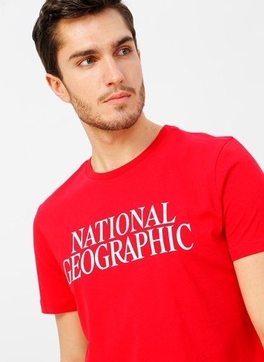 National Geographic National Geographic kırmızı T-Shirt Kırmızı